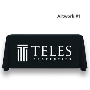 teles-properties-realty-table-throw-cover-logo-print-black