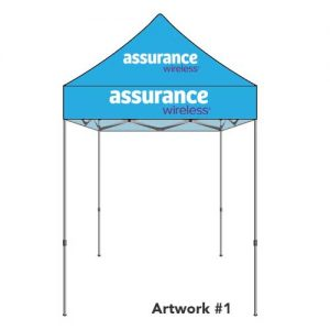 assurance-wireless-safeline-custom-logo-printed-tent-canopy-blue