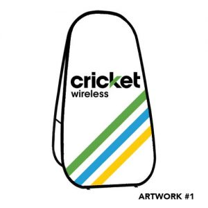 cricket-wireless-logo-printed-a-frame-sign