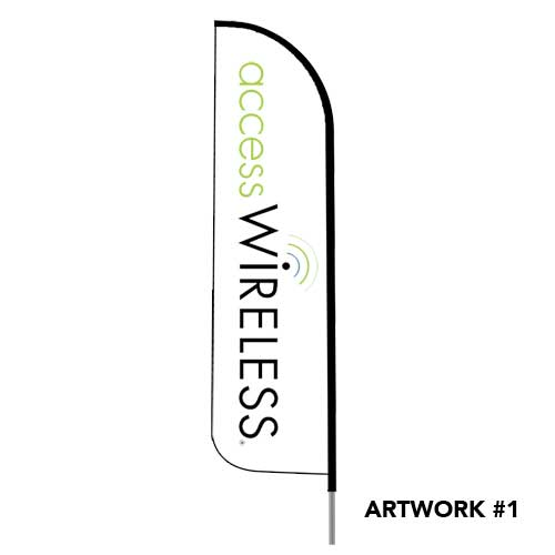 access-wireless-safelink--logo-feather-flag-banner