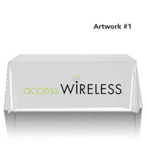 access-wireless-safelink-mobile-table-throw-cover-logo-print-tan
