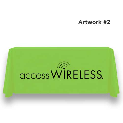 access-wireless-safelink-table-throw-cover-logo-print